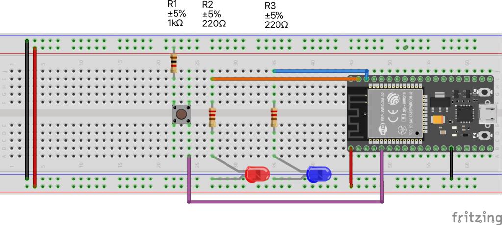 ESP32 - ESP-Now Demo Wiring