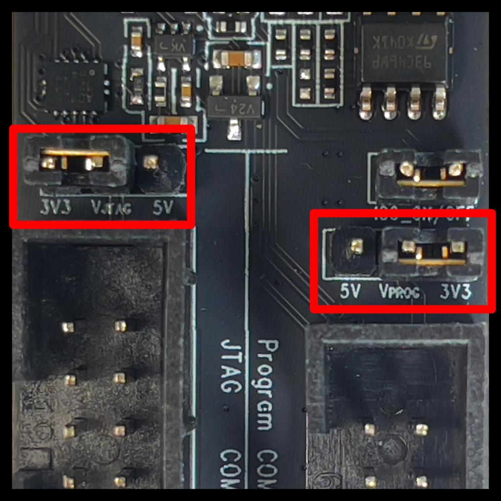 ESP-PROG Voltage Selection