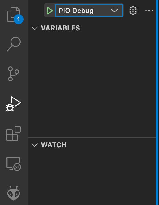 Visual Studio Code - PlatformIO - Debug Tab