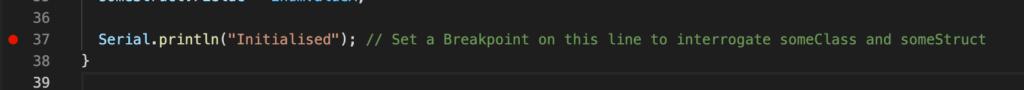 Visual Studio Code - PlatformIO - Breakpoint
