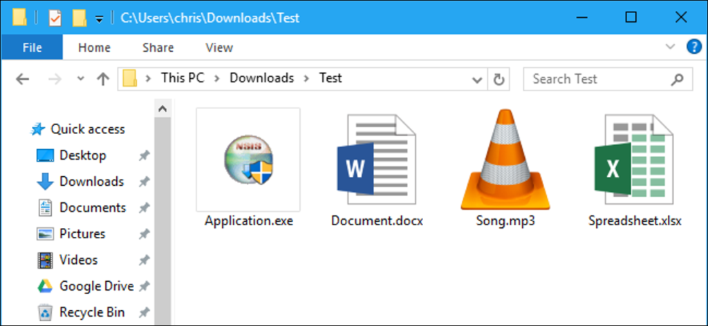 Windows 10 - Show File Extensions